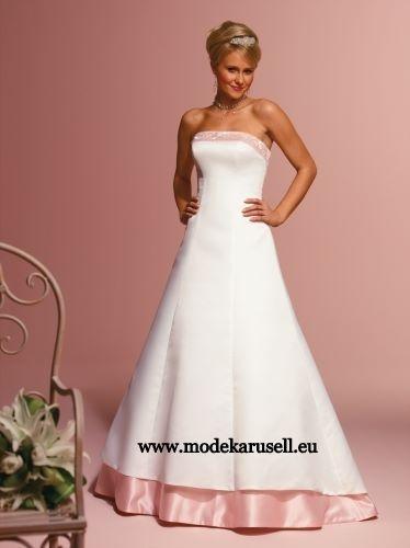 Meine Farbige Brautmode Brautkleid Gr 34 36 38 40 42 44 46 48 50 52 54 56 58 60 62 64  www.modekarusell.eu