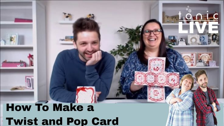 How to make a Twist and Pop Card - Tonic Studios Live Papercraft Tutorial