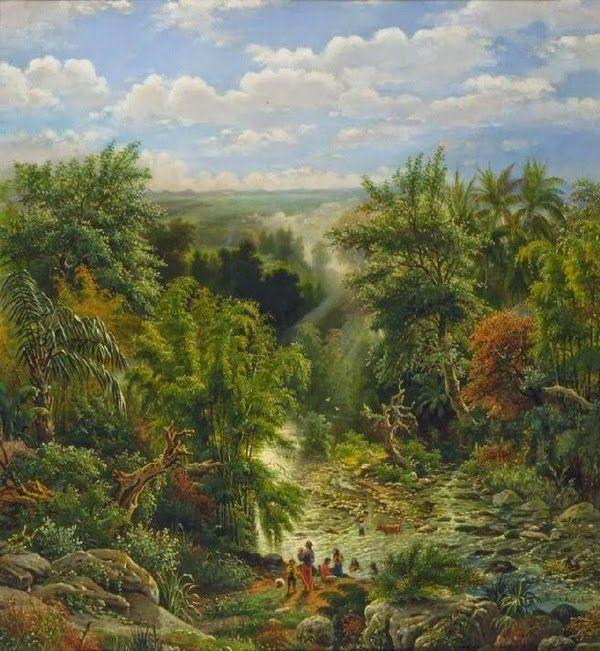 Maurits vd Kerkhoff - Pemandangan sungai Brantas, Malang (1891) #1