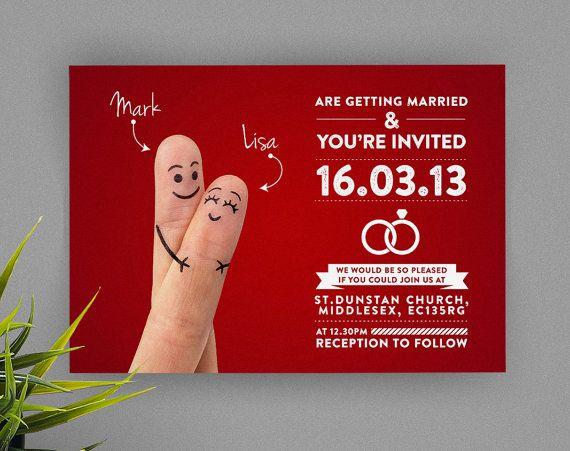 Kitsch Printable DIY Wedding Invitation £11.94