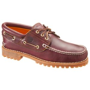 Timberland Authentics 3-Eye Classic Lug Boat Shoes for Men - Rootbeer Smooth - 11.5M
