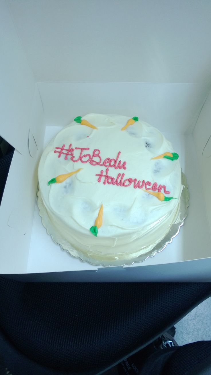 Yummy carrot cake as a treat! #Jobedu #Halloween #Cake #JobeduHalloween http://www.jo-bedu.com/