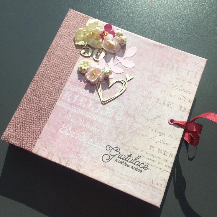 Album k 50. výročí svatby / Wedding anniversary album  #crazycatcz #výročí #dárkovéalbum #dárekkvýročí #aniversaryalbum #weddinganiversary #aniversary #album #gift