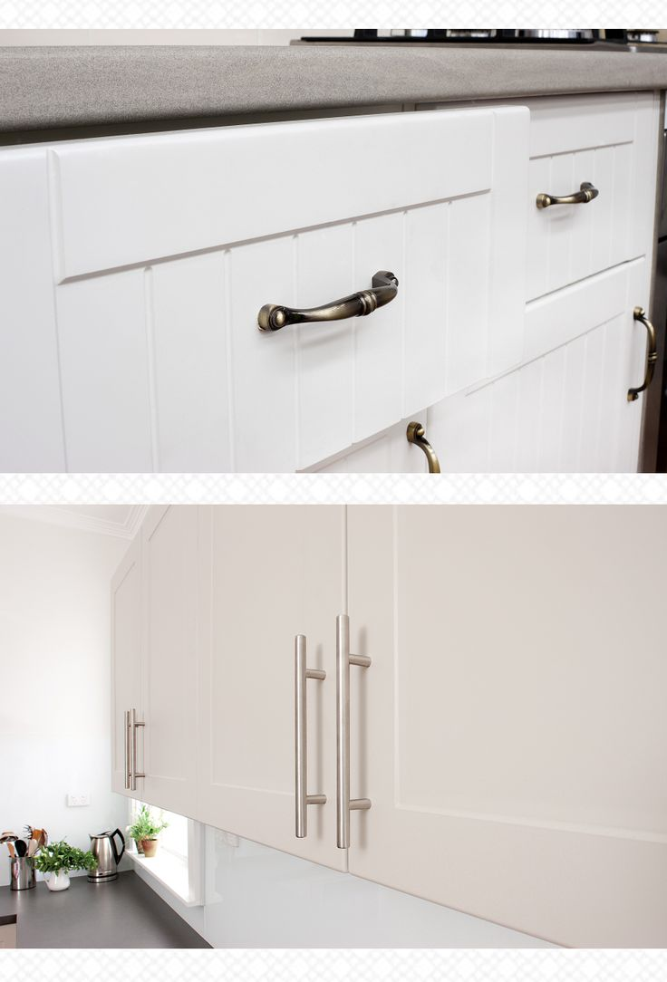 t-pull or antique bow handles from kaboodle? You decide... +kaboodle kitchen