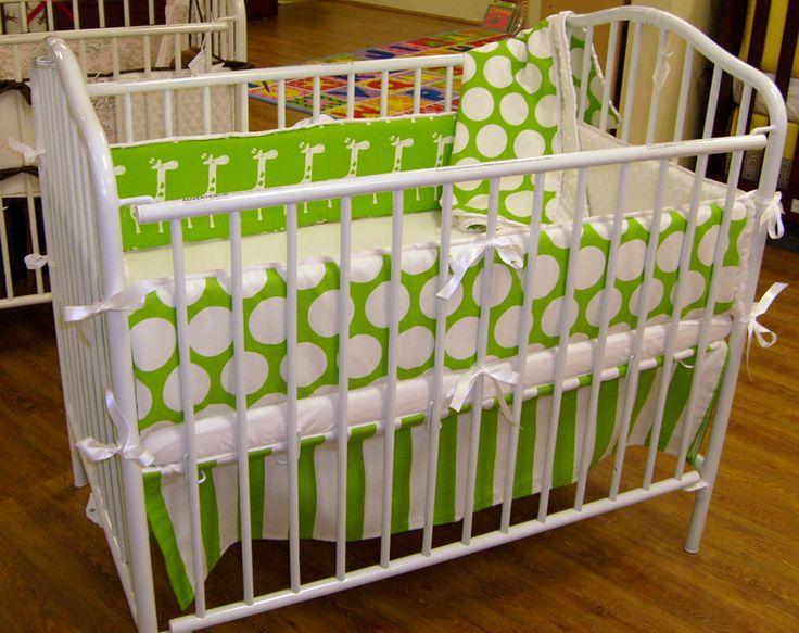 lime green stripes polka dots and adorable giraffes itu0027s bright itu0027s fun portable cribgreen stripescrib - Porta Crib