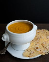 Curried Winter Squash Soup with Cheddar Crisps Recipe on Food & Wine