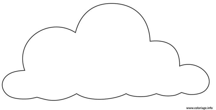 Coloriage dessin nuage Dessin à Imprimer | Dessin nuage ...