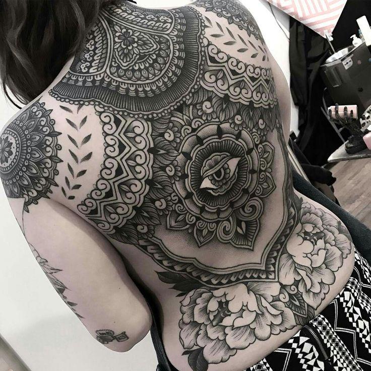 Tattoo done by: Jack Peppiette #mandala #mandalatattoo