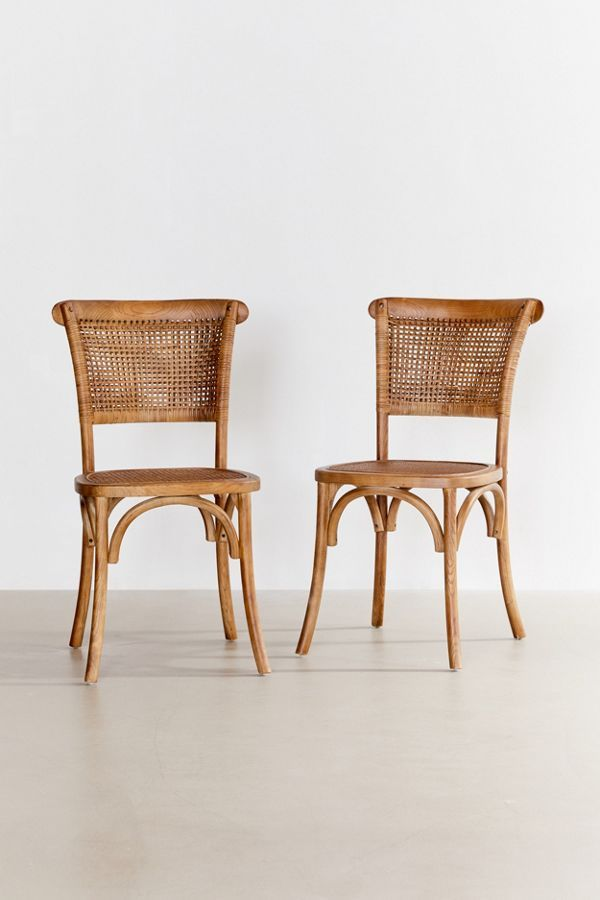 Chelsi Rattan Chair Set Of 2 In 2020 Rattan Chair Chair Set Elegant Furniture