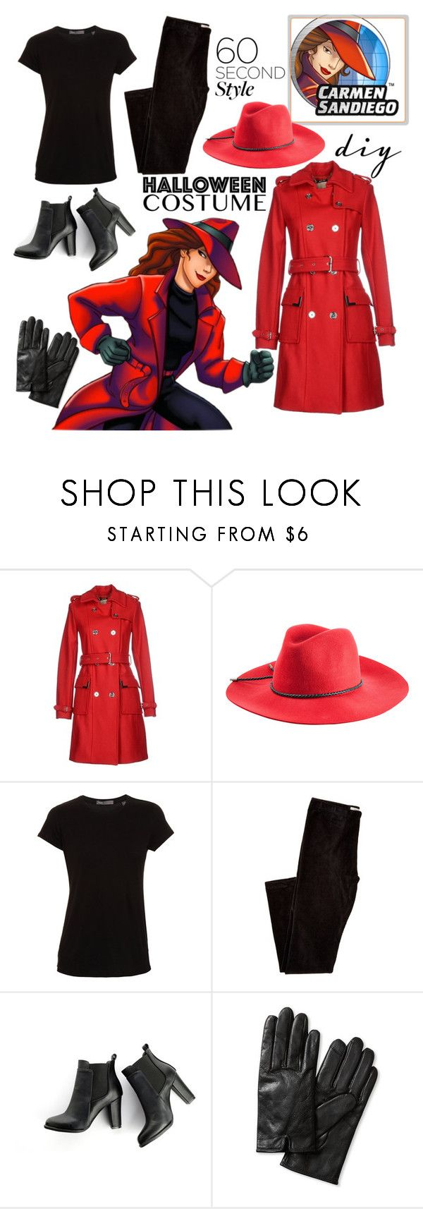 """Diy Halloween costume: Carmen Sandiego"" by starspy ❤ liked on Polyvore featuring MICHAEL Michael Kors, Emilio Pucci, Vince, MANGO and Banana Republic"