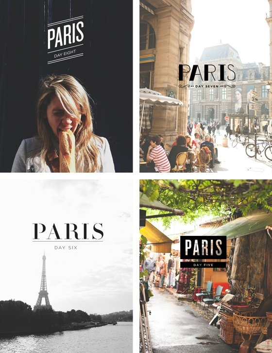 A graphic designer chronicles her trip to Paris with beautiful typography