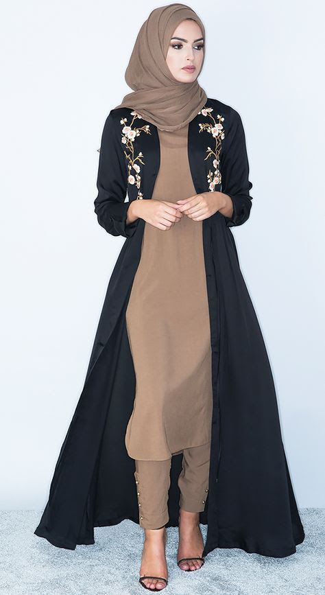 Abaya style, Hijab dress, and more Pins trending on Pinterest – kahakshakhan1997@ – Gmail