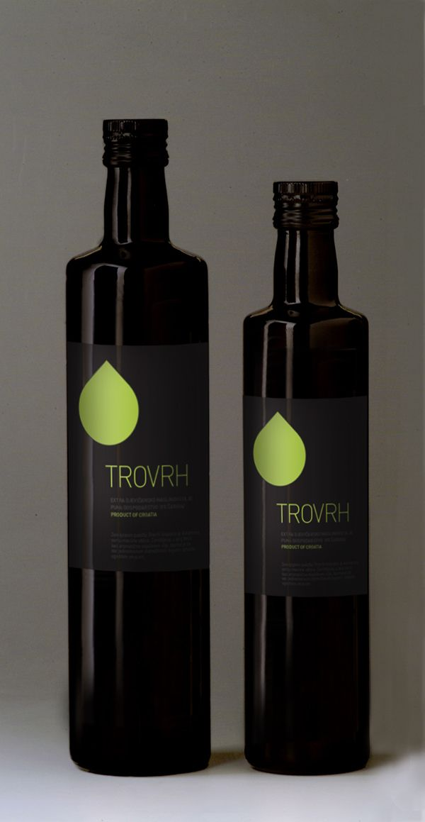 TROVRH - wine and olive oil labels by Studio Faktor, via Behance