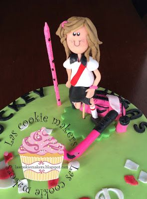 Las Cookie Makers: :: HOCKEY CAKE FLOR::