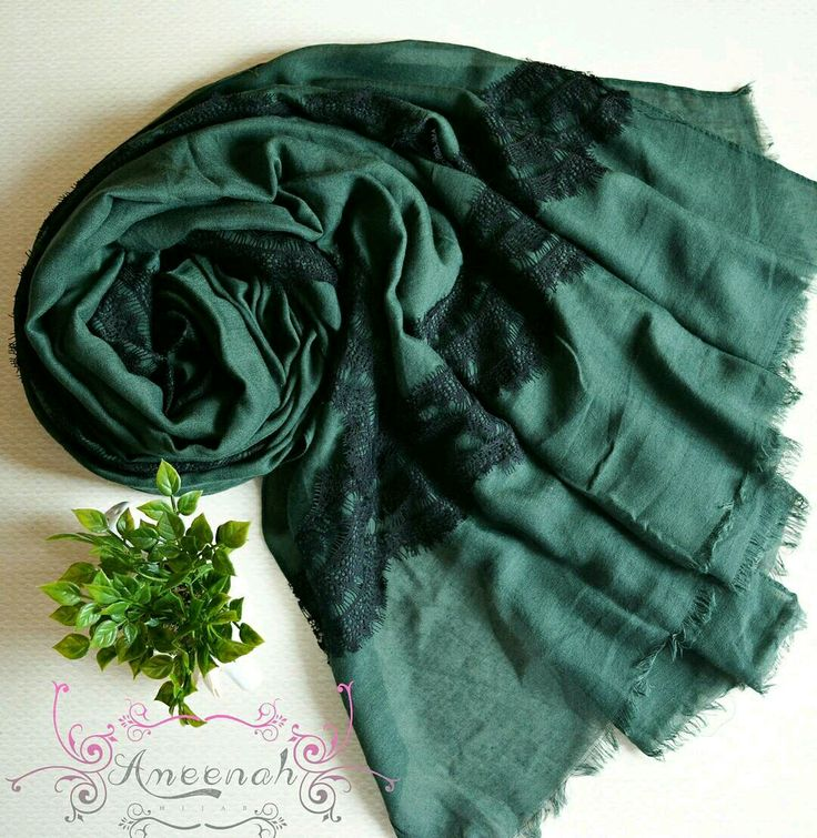 🍄Amaris Lace Scarf (emerald) 🍄Material : Cotto+Polyester+lace Exclusive Import 🍄Ukuran : 185x110 cm 🍄IDR 150.000  For order Line@ameenah_hijab BBM 598B233D Shipping : Bandung