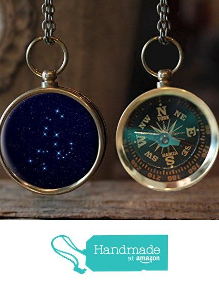 Orion Constellation Horoscope Working Compass Necklace from The Lakeside Studio https://www.amazon.com/dp/B01IPOU4HQ/ref=hnd_sw_r_pi_dp_BgT0zbW3KV4G7 #handmadeatamazon