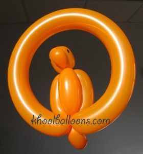 One-balloon parrot balloon animal. Khool balloons website lots of simple balloon instructions