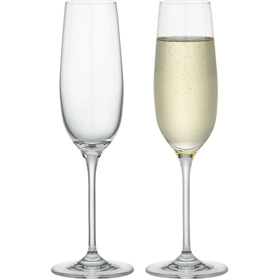 Viv Sparkling Wine Glass in Champagne Flutes | Crate and Barrel