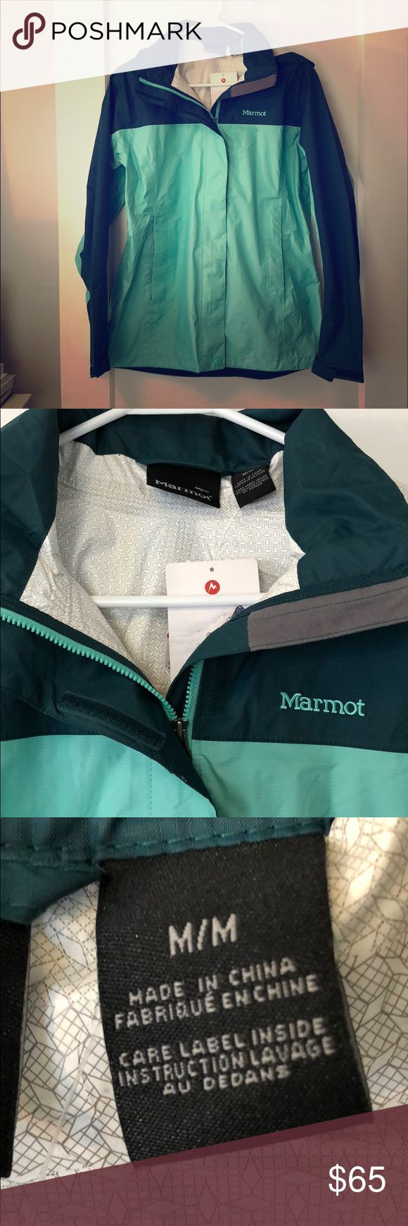 NWT Marmot raincoat Brand new green Marmot raincoat size M. Teal. Marmot Jackets & Coats