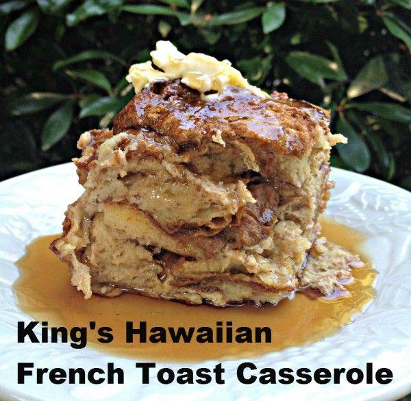 King's Hawaiian Bread French Toast Casserole I am making this tonight!!