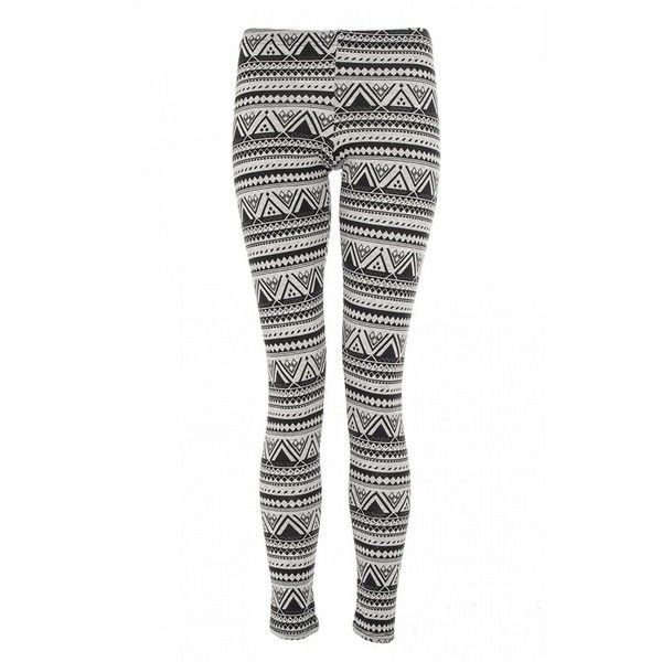 Grey And Black Aztec Print Leggings (105 CNY) found on Polyvore  Printed Leggings20121130