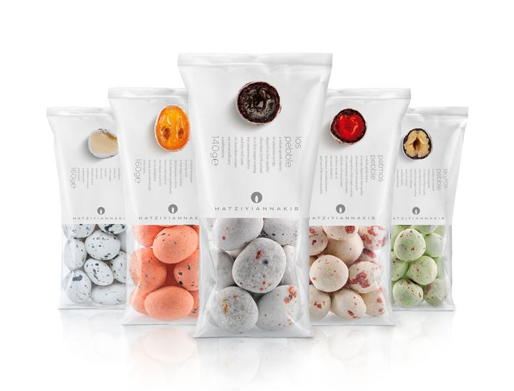Hatziyiannakis candy packaging by Mousegraphics