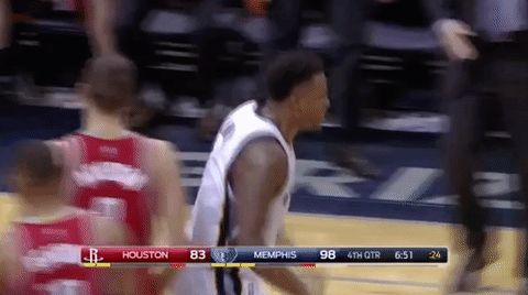 basketball nba excited yes martin fist pump memphis grizzlies chest bump jarell martin #humor #hilarious #funny #lol #rofl #lmao #memes #cute