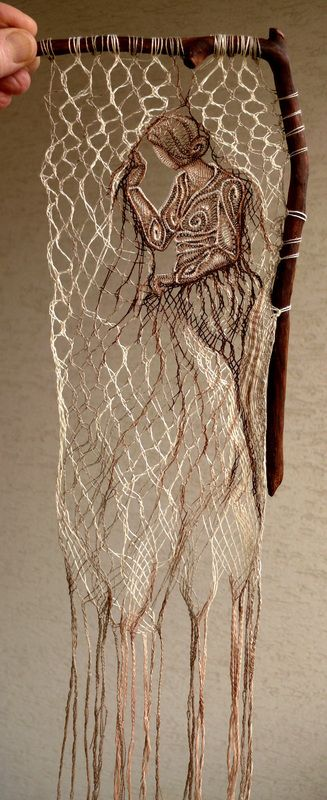 Lace & Wood - Wall Decoration with Lace                                                                                                                                                     More