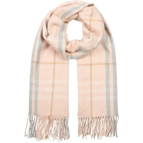 Accessorize Pastel Large Check Blanket (180 EGP) ❤ liked on Polyvore featuring accessories, scarves, pink, accessorize scarves, pink scarves, pastel scarves, checkered scarves and tassel scarves
