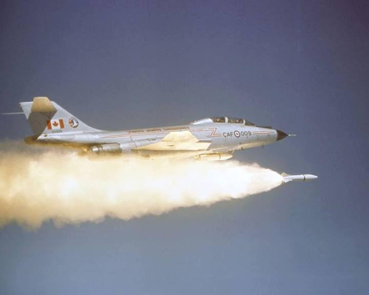 Army RCAF CF-101 Voodoo fires an AIR-2A Genie mid 1960s