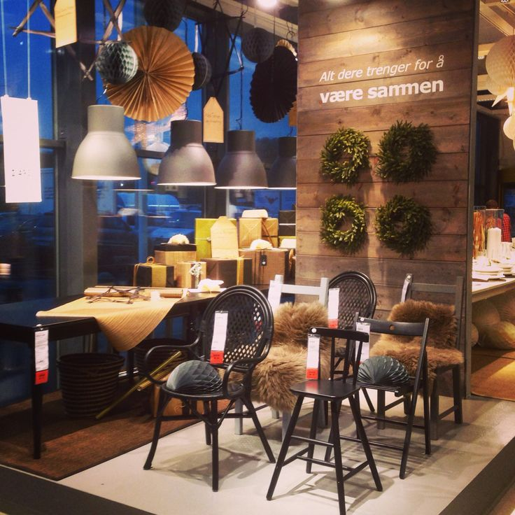 Proud of my team! Visual merchandising, Christmas 2014, entrance podium for our Scandinavian traditional style group  #ikeaforus #ikeainspiration