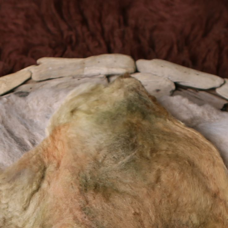 Felted blanket (brown tones) / Wintertwine