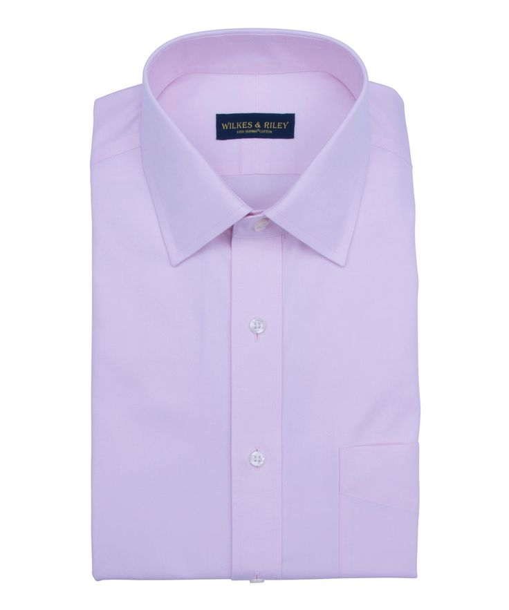 Non Iron Tailored Fit Pink Spread Collar Supima Cotton