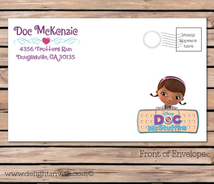 Best Doc Mcstuffins Birthday Images On Pinterest Birthday - Birthday invitation template doc