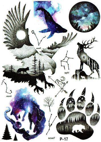 Adler Wolf Mond Tier Pfote