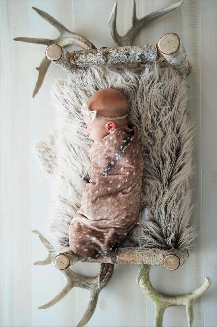 Axis deer minky swaddle blanket #christmasgift #stockingstuffer #nursery #babyshowergift #rustic #swaddle #baby