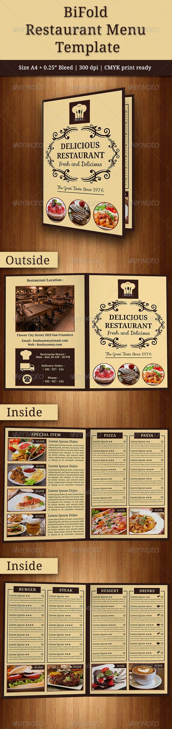 BiFold Restaurant Menu 22 best Design Templates