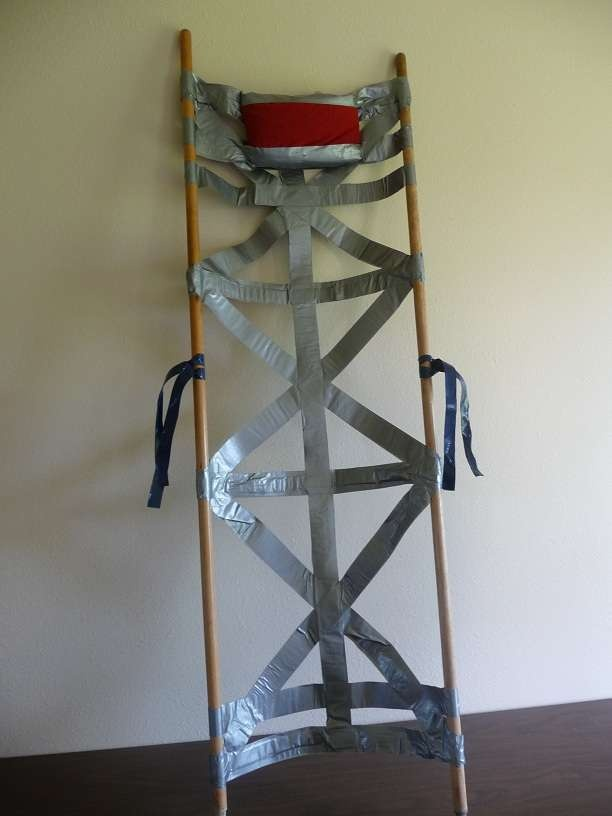 Emergency Duct Tape Stretcher  for humans and animals