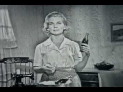 Coke keeps you thin!  (1961 Coke commercial) I don't remember this advertisement, but oh how I wish it were true!