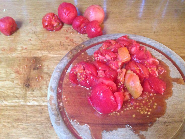 Pomidory sparzone bez skóry na leczo