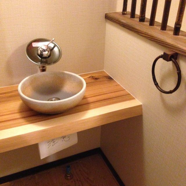 トイレと手洗い別/和モダン…などのインテリア実例 - 2014-05-03 06:38:17