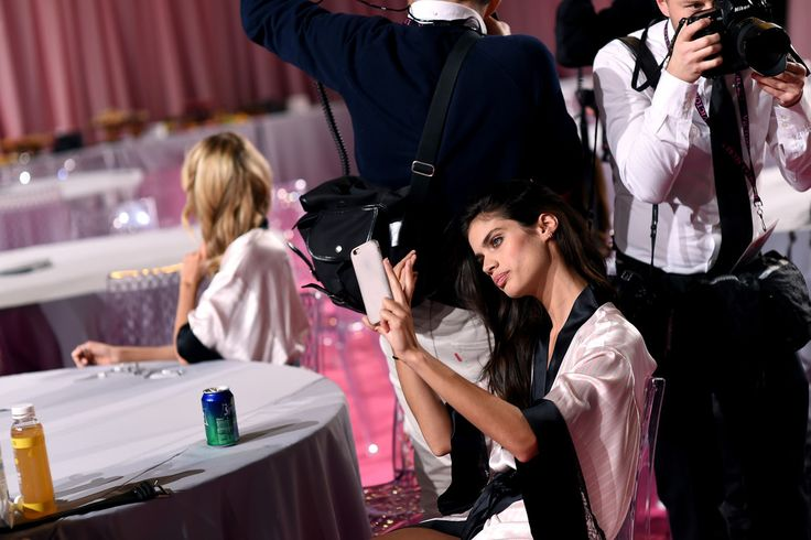 Sara Sampaio Photos - Backstage at the Victoria's Secret Fashion Show - Zimbio