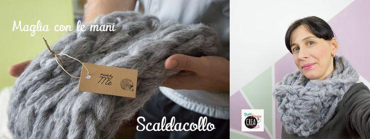 arm knitting cowl video tutorial