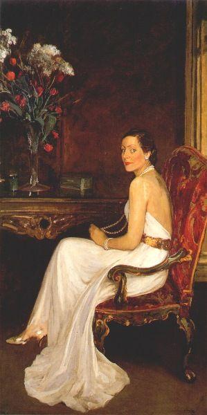 Sir John Lavery (Irish, 1856 - 1941) 'Viscountess Wimborne'