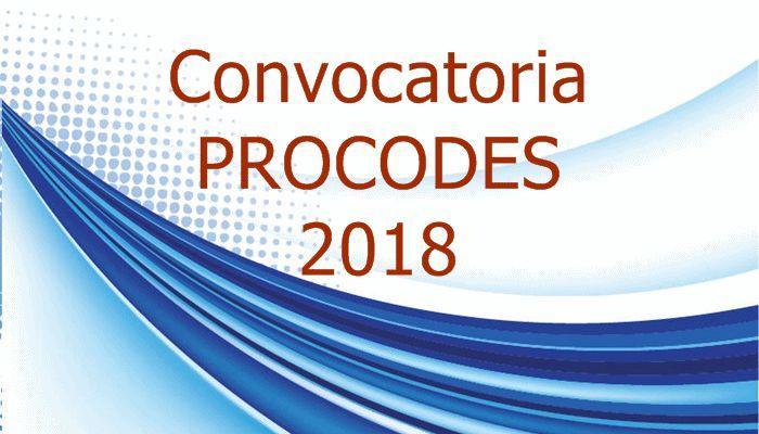 Convocatoria programa PROCODES 2018