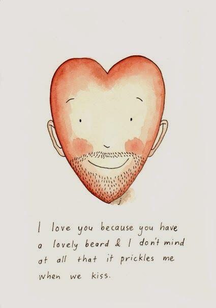 Beard love, fineliner and watercolour ©jb www.appletreesintheclouds.blogspot.com.au