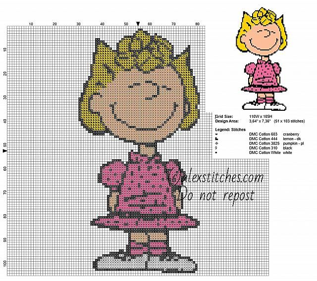 Sally Brown - Peanuts character free pattern