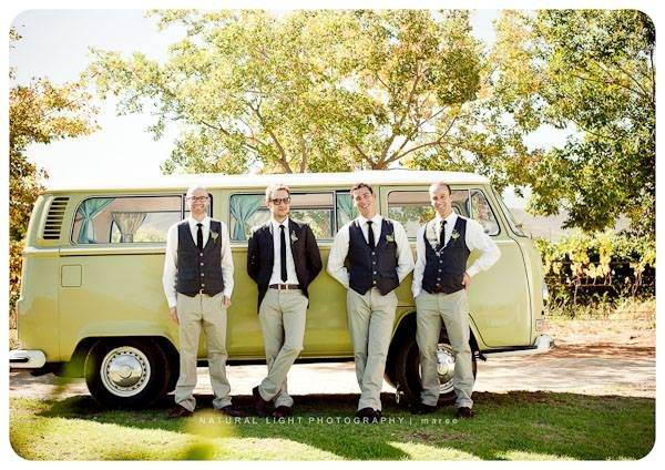 Vintage VW wedding bus, Bo9n Cap Robertson