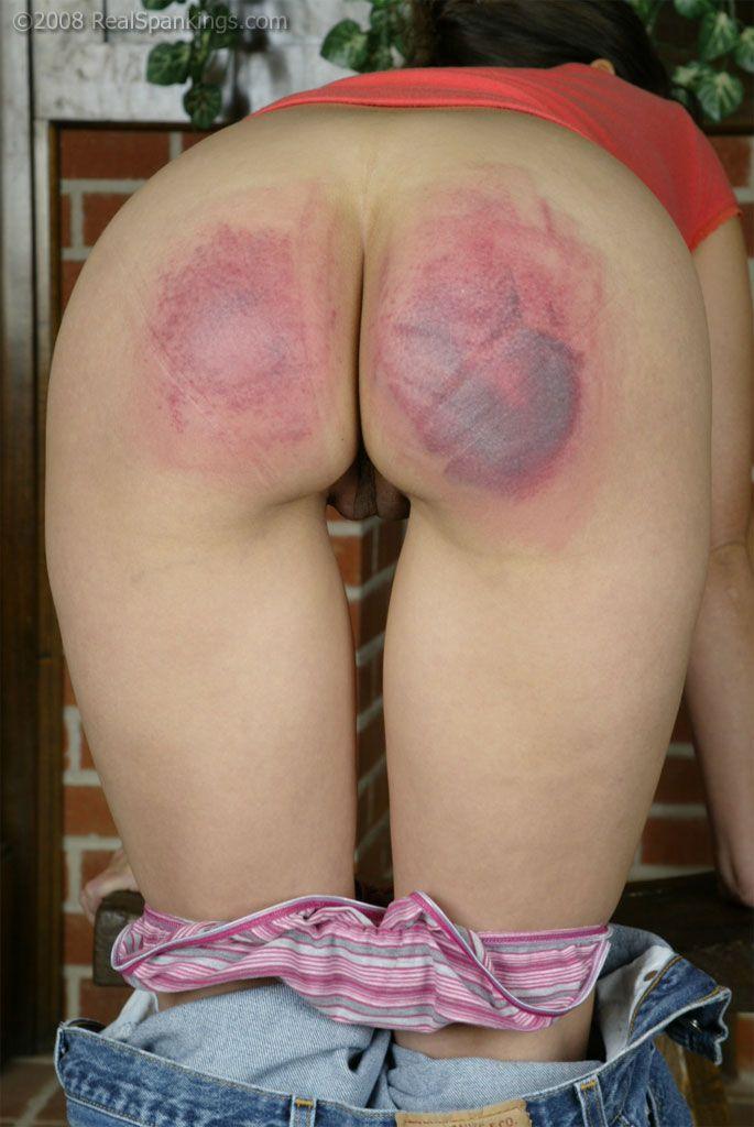2 girls spanked