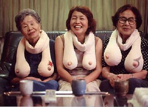 Saggy Boob Scarves - these are hysterical !